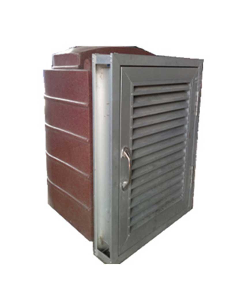 รับผลิตถังขยะชนิดฝังกำแพงบานเกล็ด