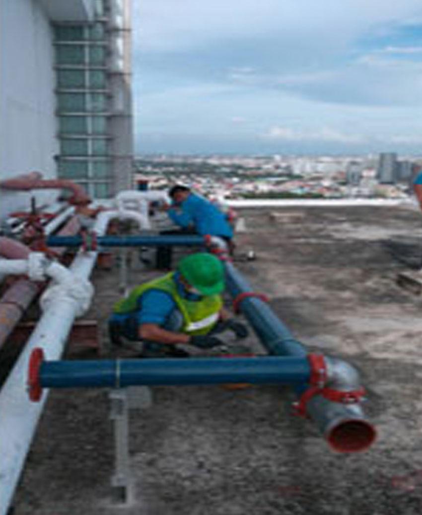 งานปรับปรุง ซ่อมแซมระบบท่อภายในอาคาร