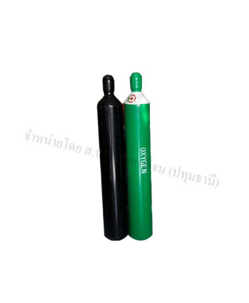 ถังออกซิเจน สีดำใช้งานอุตสาหกรรม สีเขียวผู้ป่วย