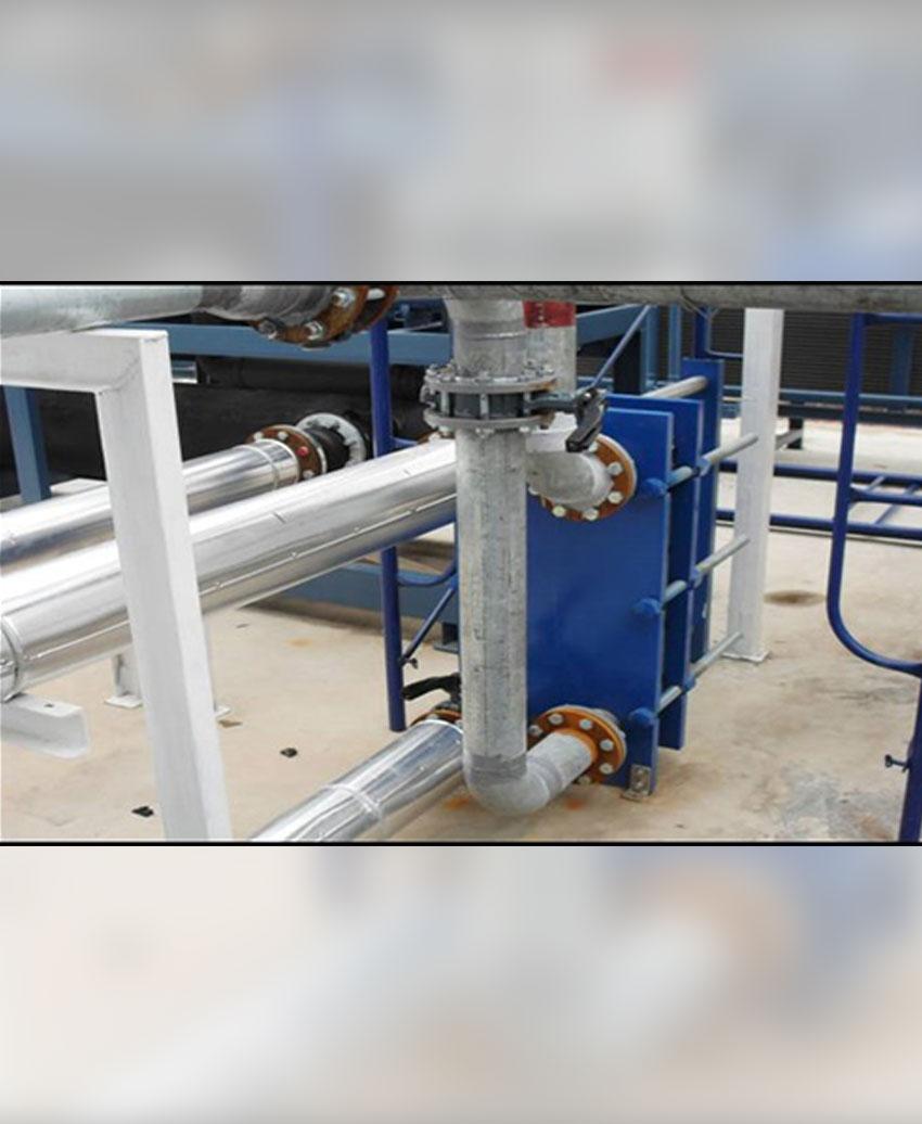 งานติดตั้ง Plate Heat Exchanger