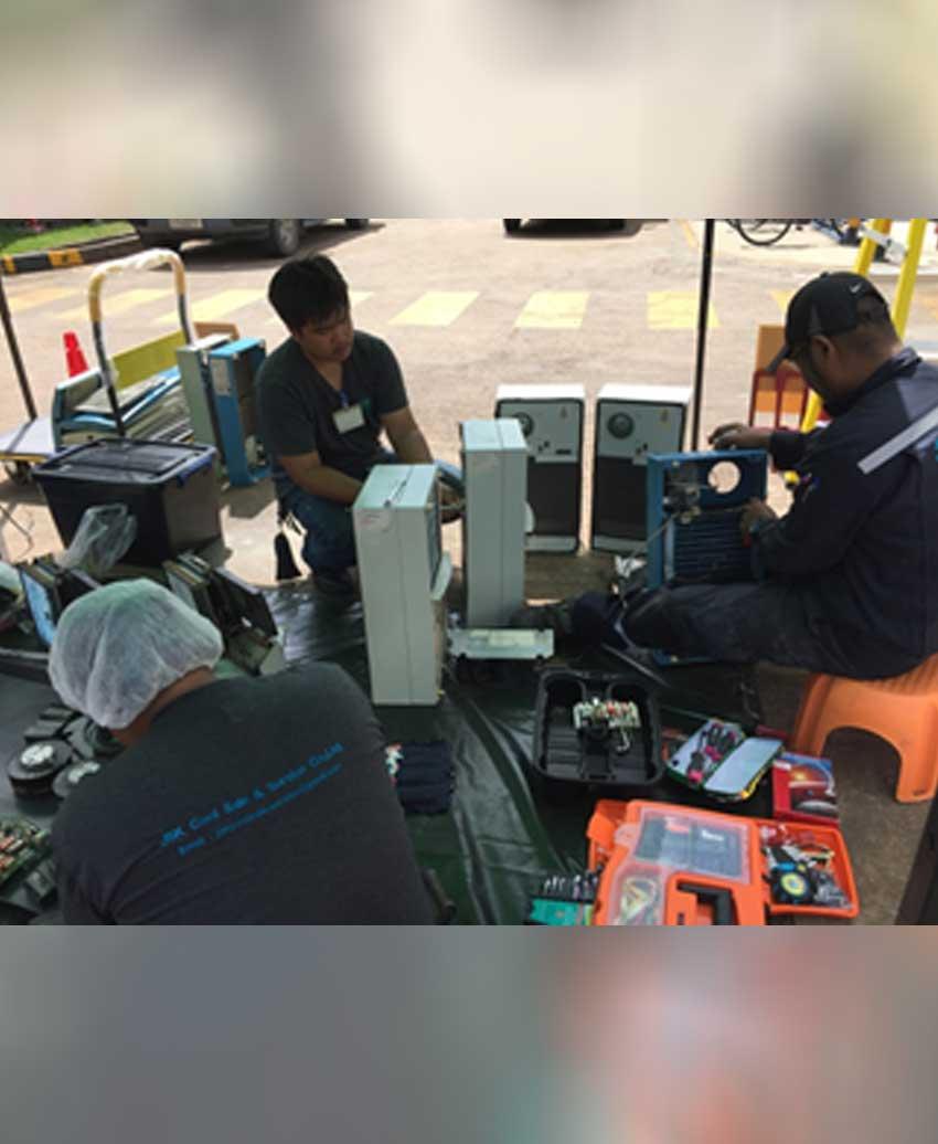 บริการซ่อมแอร์ตู้คอนโทรล ซ่อมแอร์ติดเครื่องจักร ระยอง