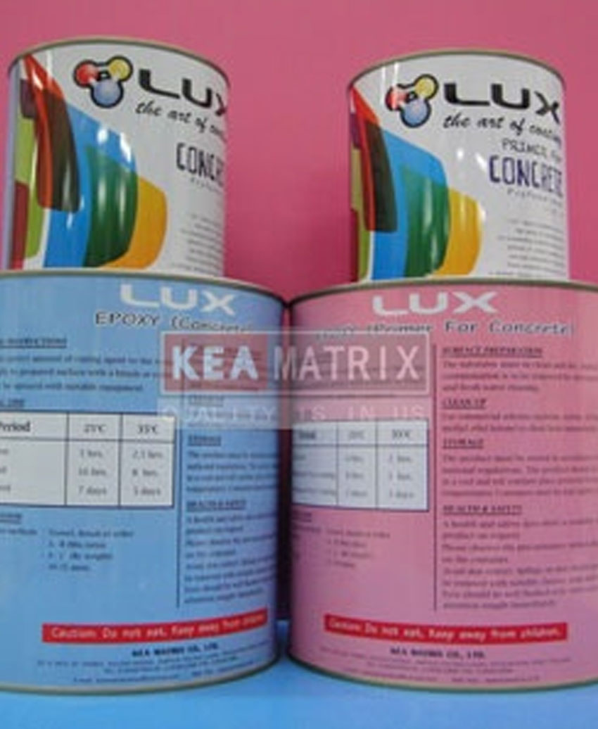 LUX Epoxy for concrete system